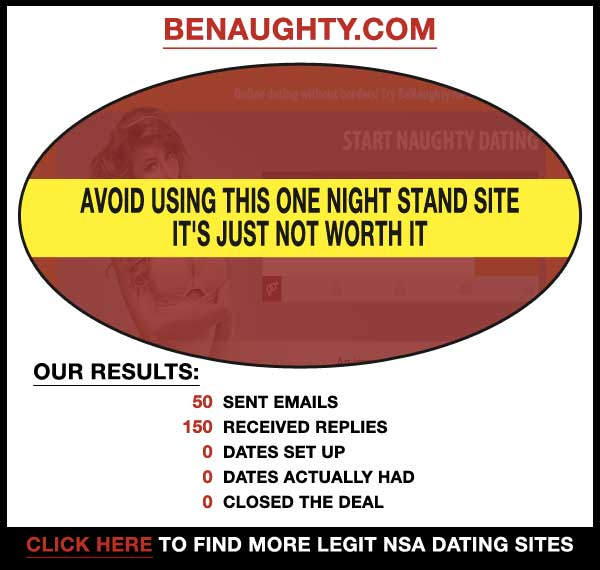 Homepage of BeNaughty.com