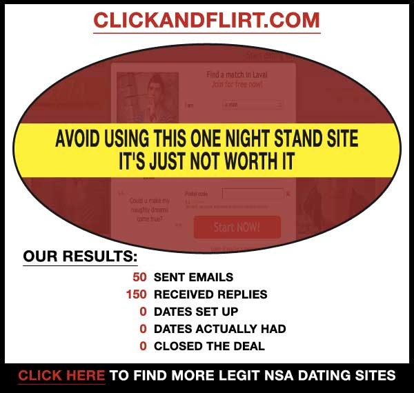 Homepage of ClickAndFlirt.com