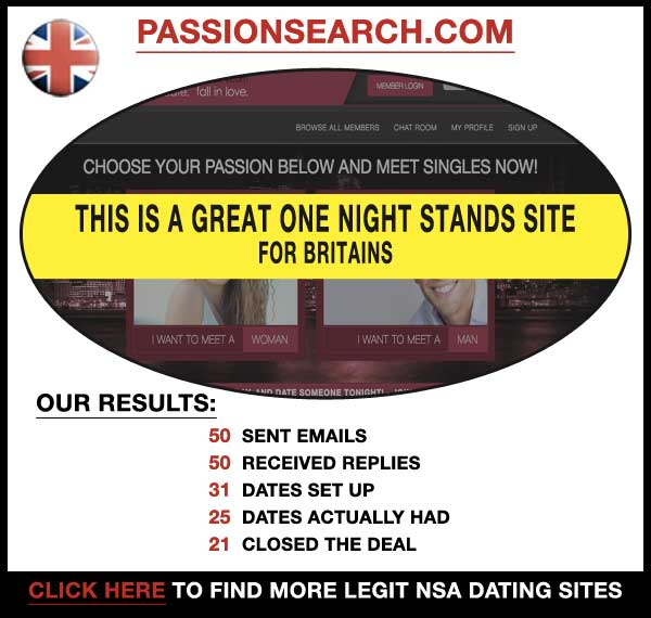 Homepage of PassionSearch.com