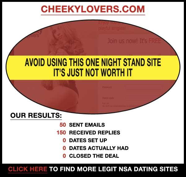 Homepage of CheekyLovers.com