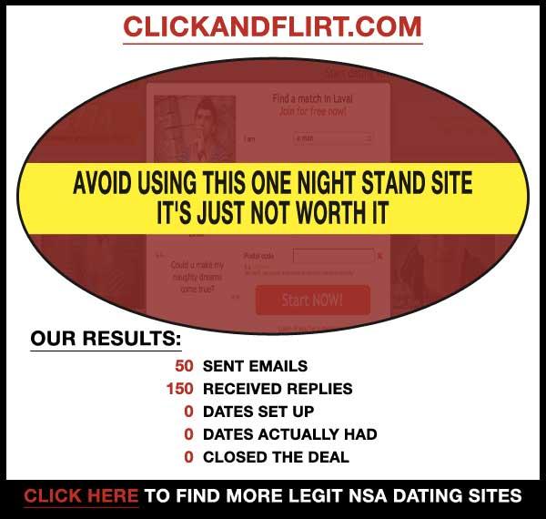 Homepage of ClickAndFlirt.com