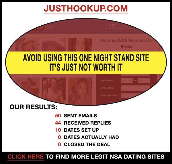 Homepage of JustHookup.com.com